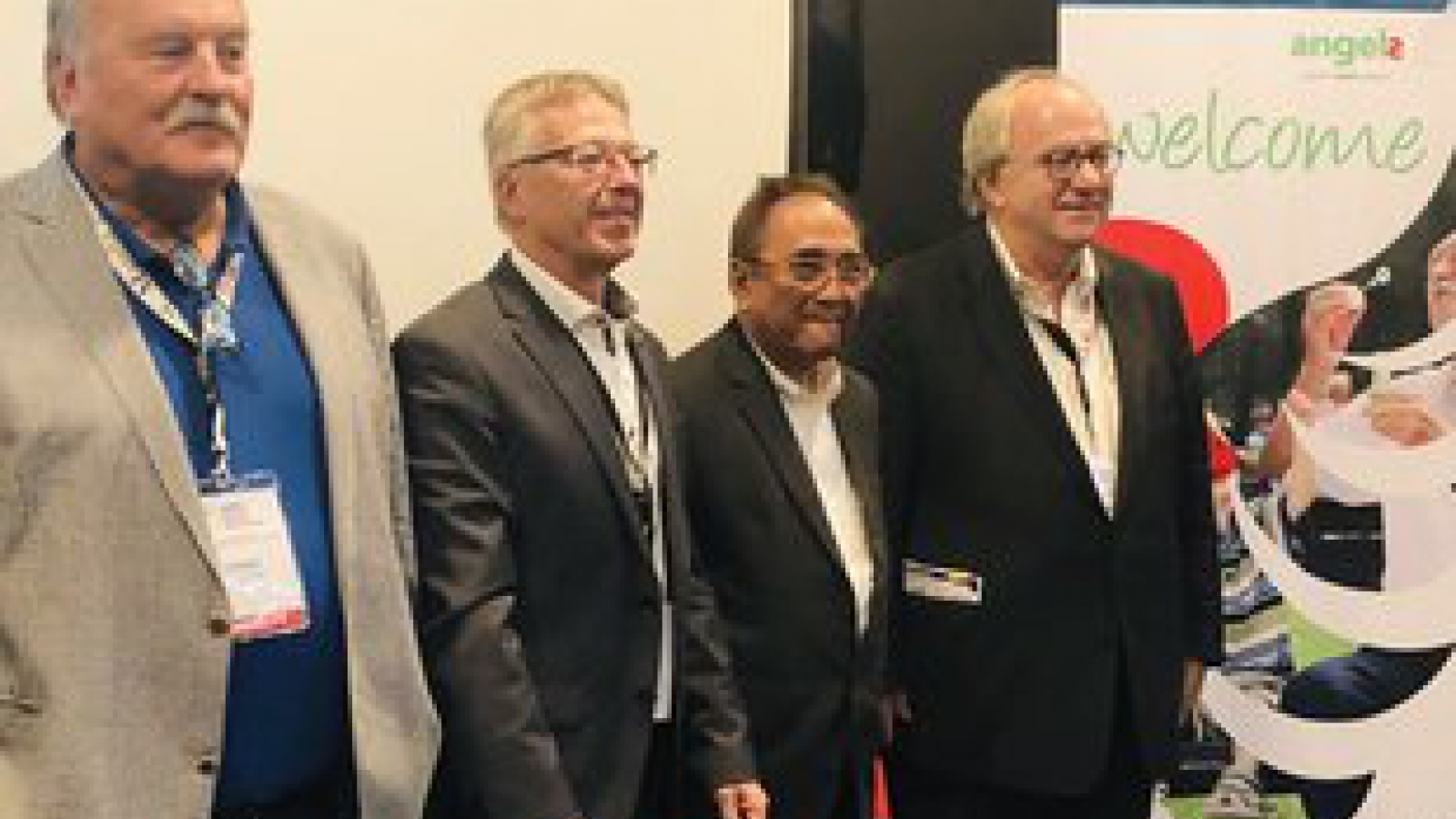 Werner Hacke, Thomas Fischer, Jose Navarro, Michael Brainin, Angels Press Conference, Manila