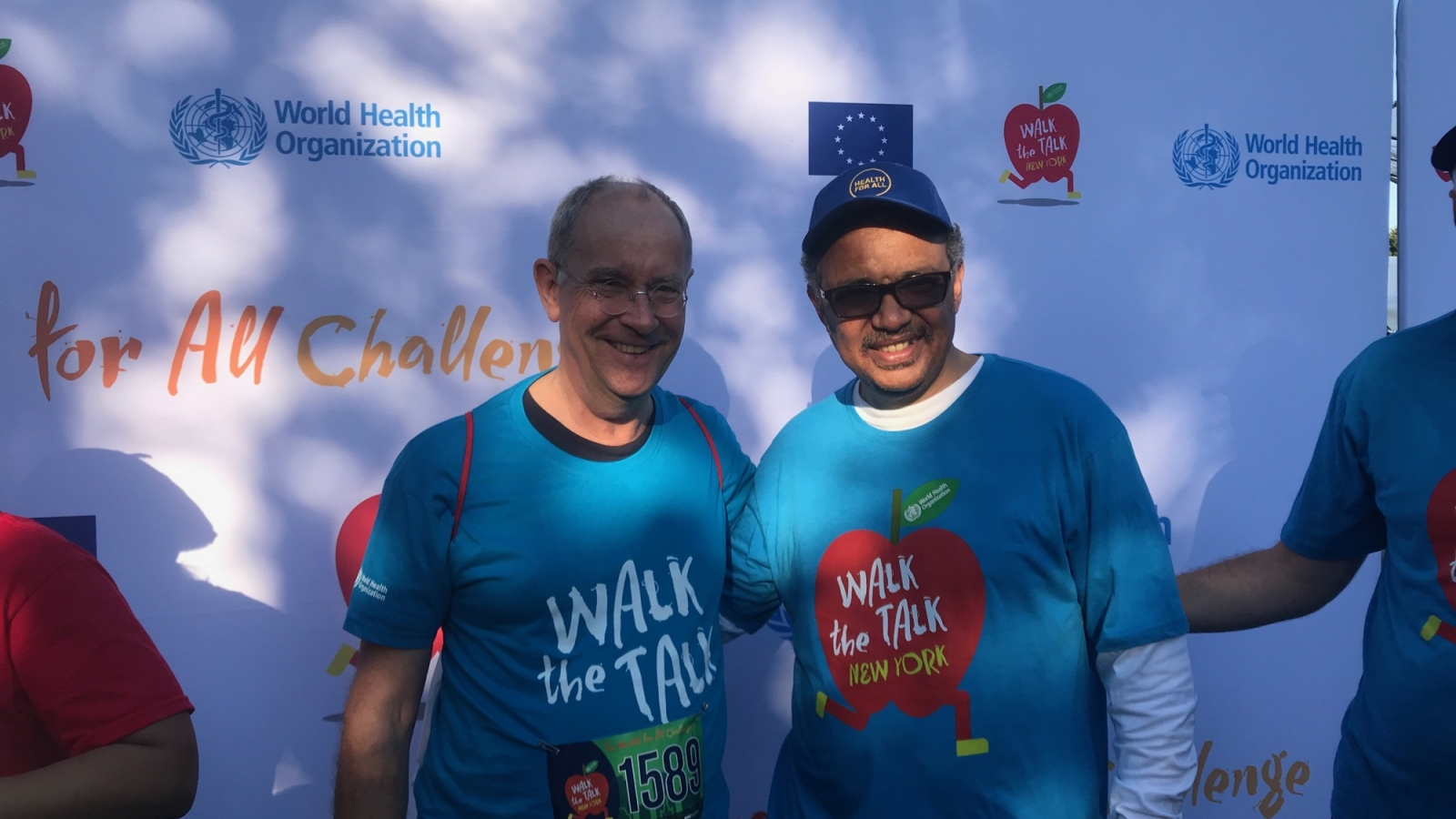 Bo Norrving and WHO Director General Tedros Ghebreyesus at Walk-the-Talk WHO event in Central ParkSept 22nd 2019